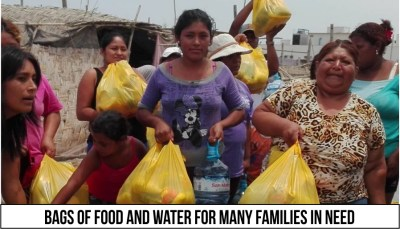 Food and Water for Fire Relief in Pisco