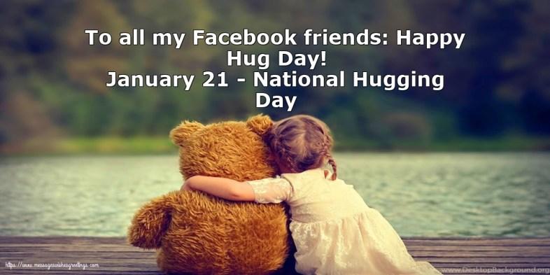 Greetings Cards for Hug Day - January 21 - National Hugging Day -  messageswishesgreetings.com