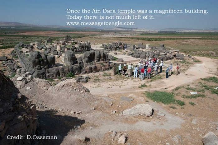 If we travel to the village of Ain Dara, northwest of Aleppo, Syria, we come across an Iron-Age temple.