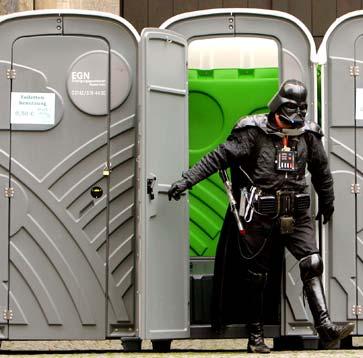 Vader toilet