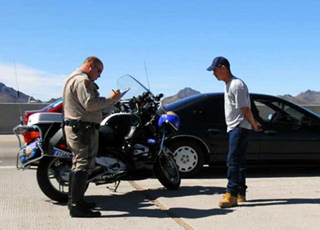 cop speeding ticket