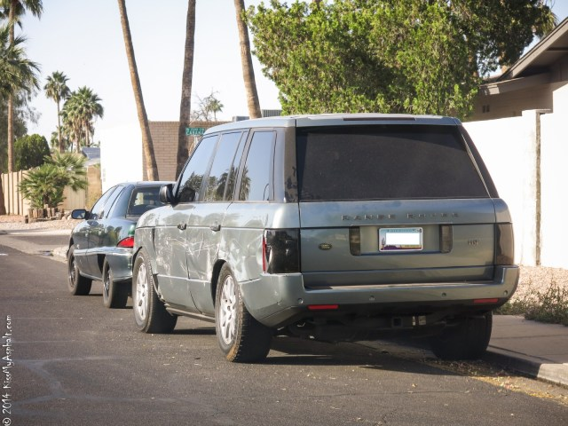 Range Rover crash