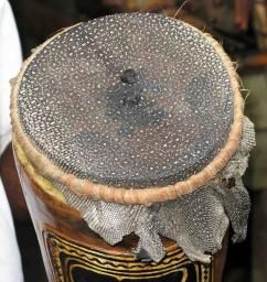 The head of a kundu drum