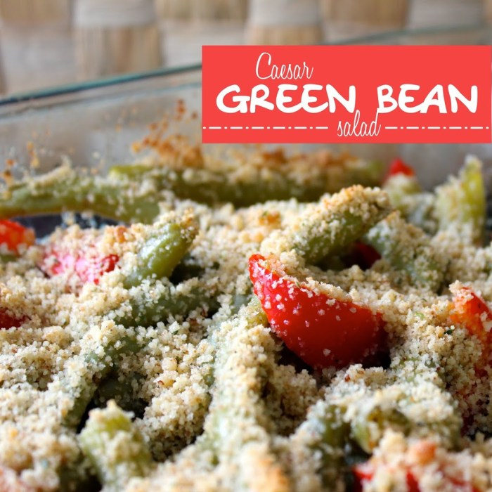 Caesar Green Beans is a delicious green bean side dish all dress up from Messes to Memories