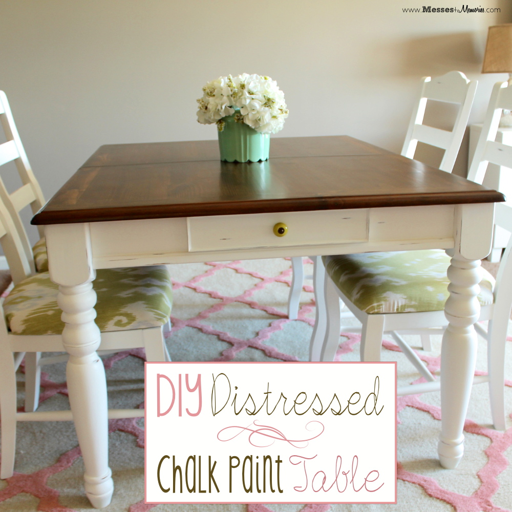 DIY DISTRESSED CHALK PAINT TABLE