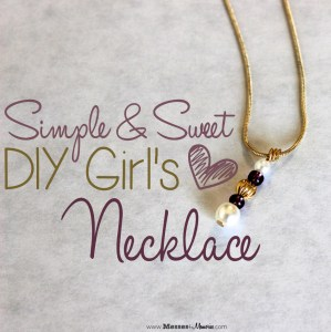 SIMPLE & SWEET DIY GIRL'S NECKLACE
