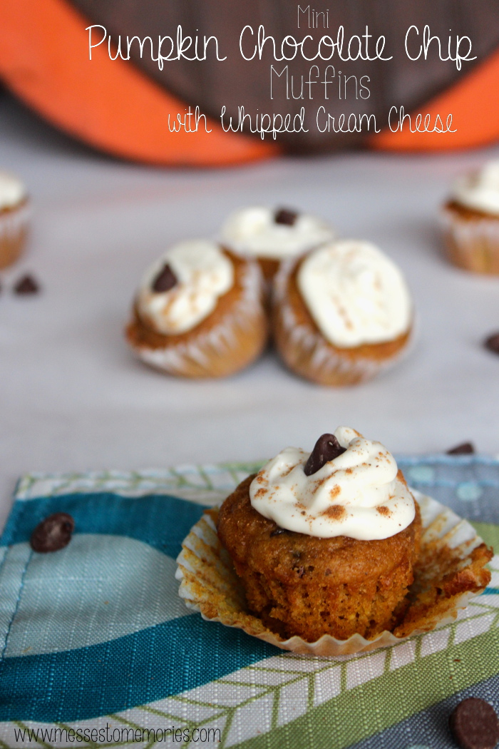 These Mini Pumpkin Chocolate Chip Muffins are a family favorite from Messes to Memories