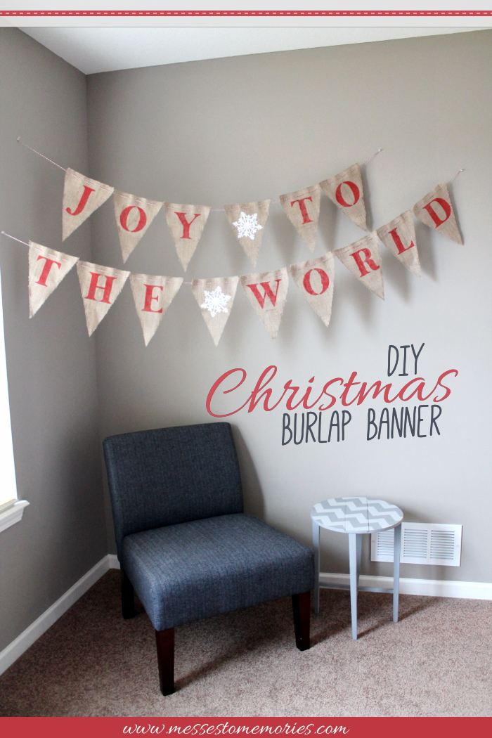 A beautiful and simple banner you can make for Christmas from Messes to Memories
