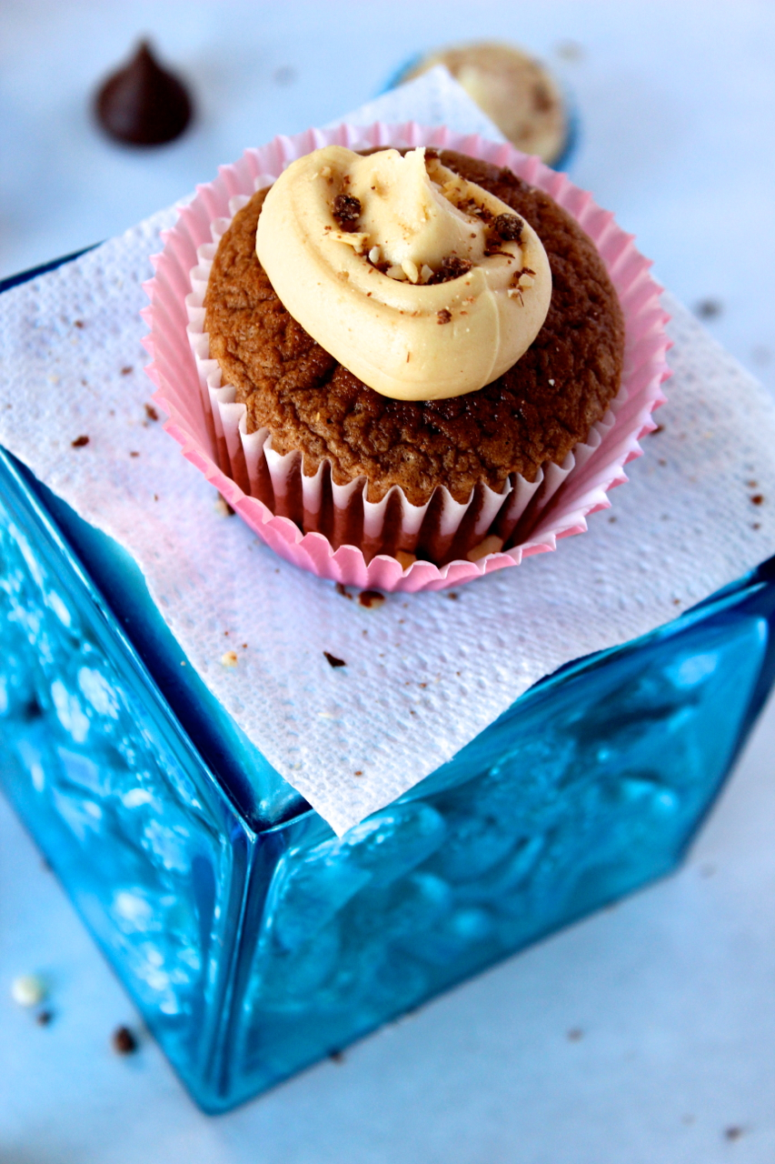 Nutella and Peanut Butter Cupcakes from Messes to Memories