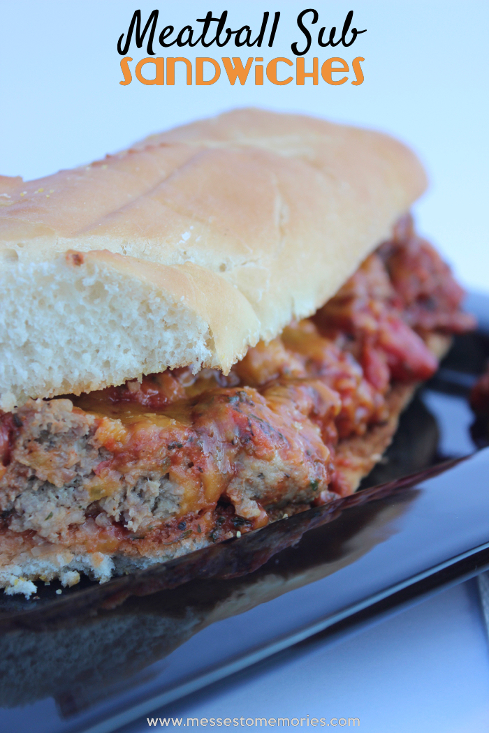 Loaded Meatball Subs from Messes to Memories