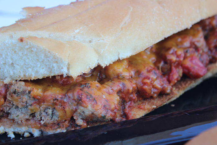 Saucy Meatball Sub Sandwich from Messes to Memories