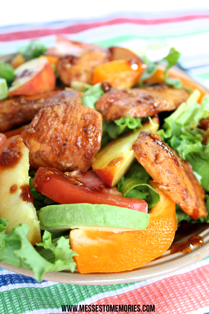 Honey Balsamic Chicken Salad--Perfect for Summer from Messes to Memories