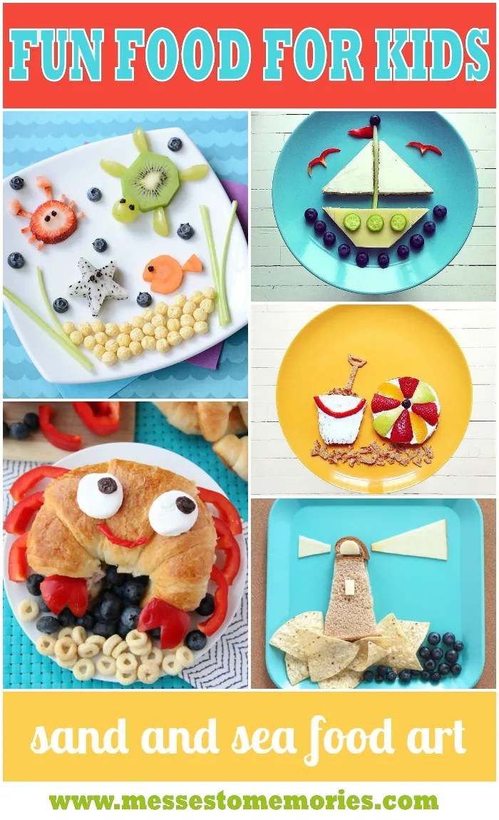 Sand and sea food art from Messes to Memories