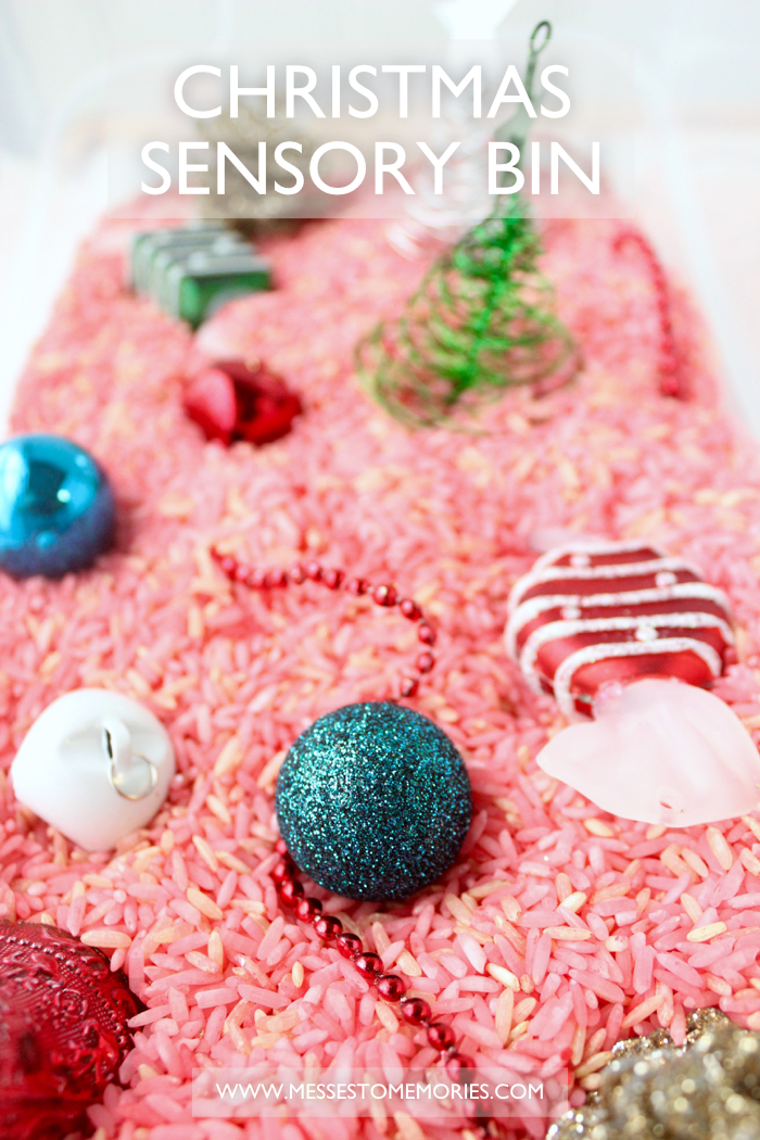 A fun Christmas Sensory Bin from Messes to Memories
