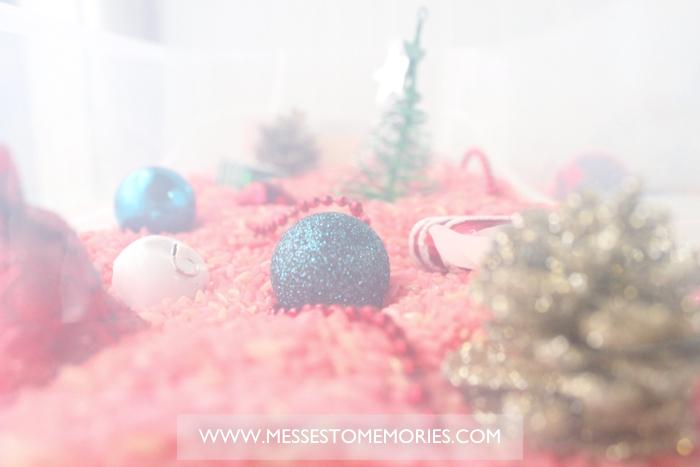 A fun Christmas Sensory Bin from Messes to Memories