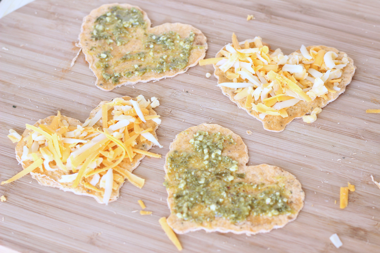 Cheesy Pesto Quesadilla--Valentine's Lunch