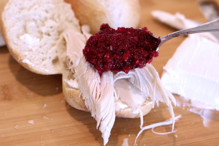 Rhodes Turkey Sandwich with Cranberry Salsa