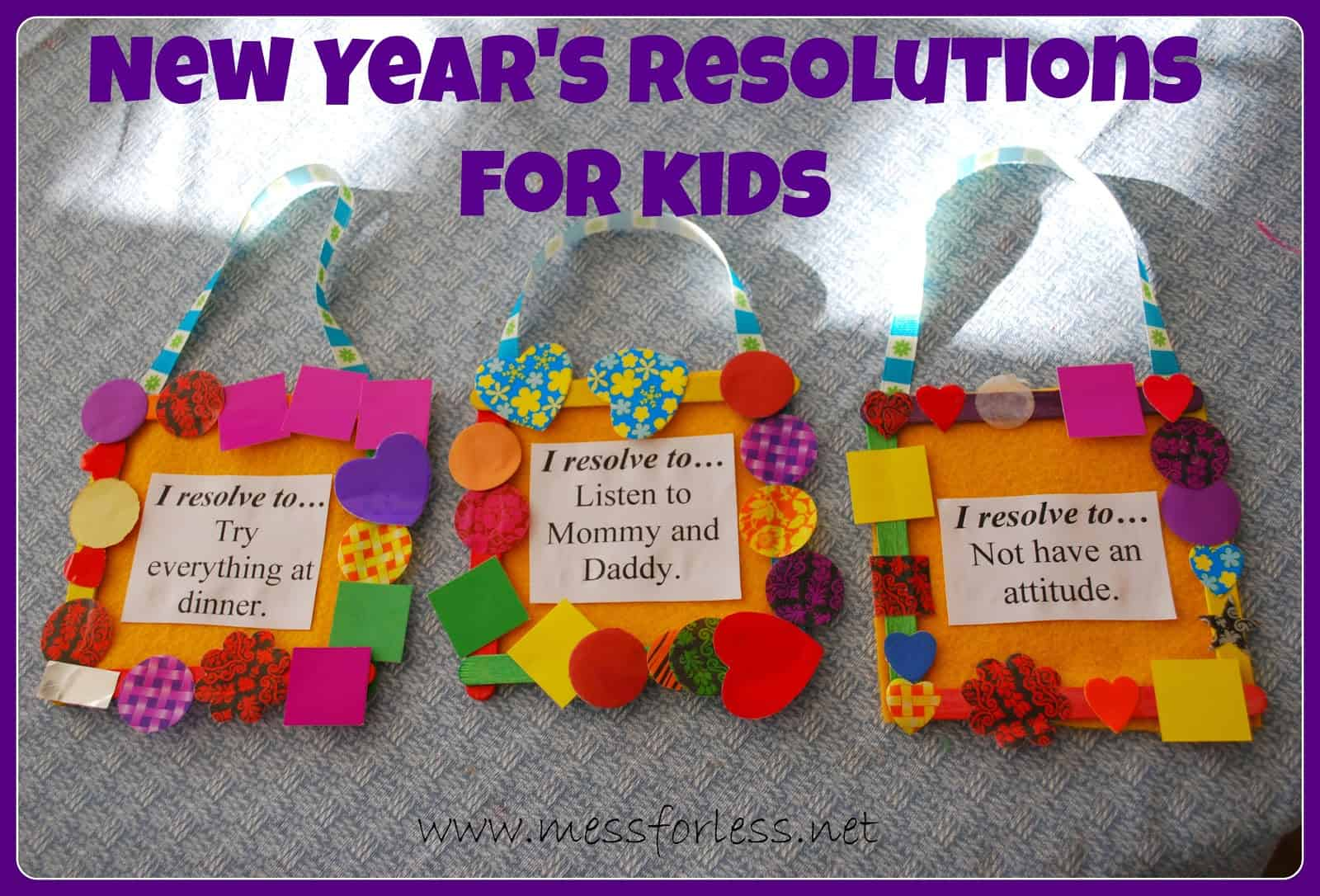 New Year S Resolutions For Kids