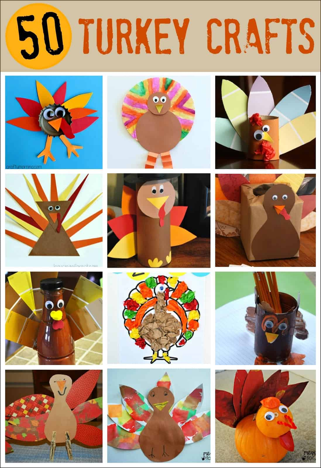 Thanksgiving Crafts For Kids Pipe Cleaner Turkey