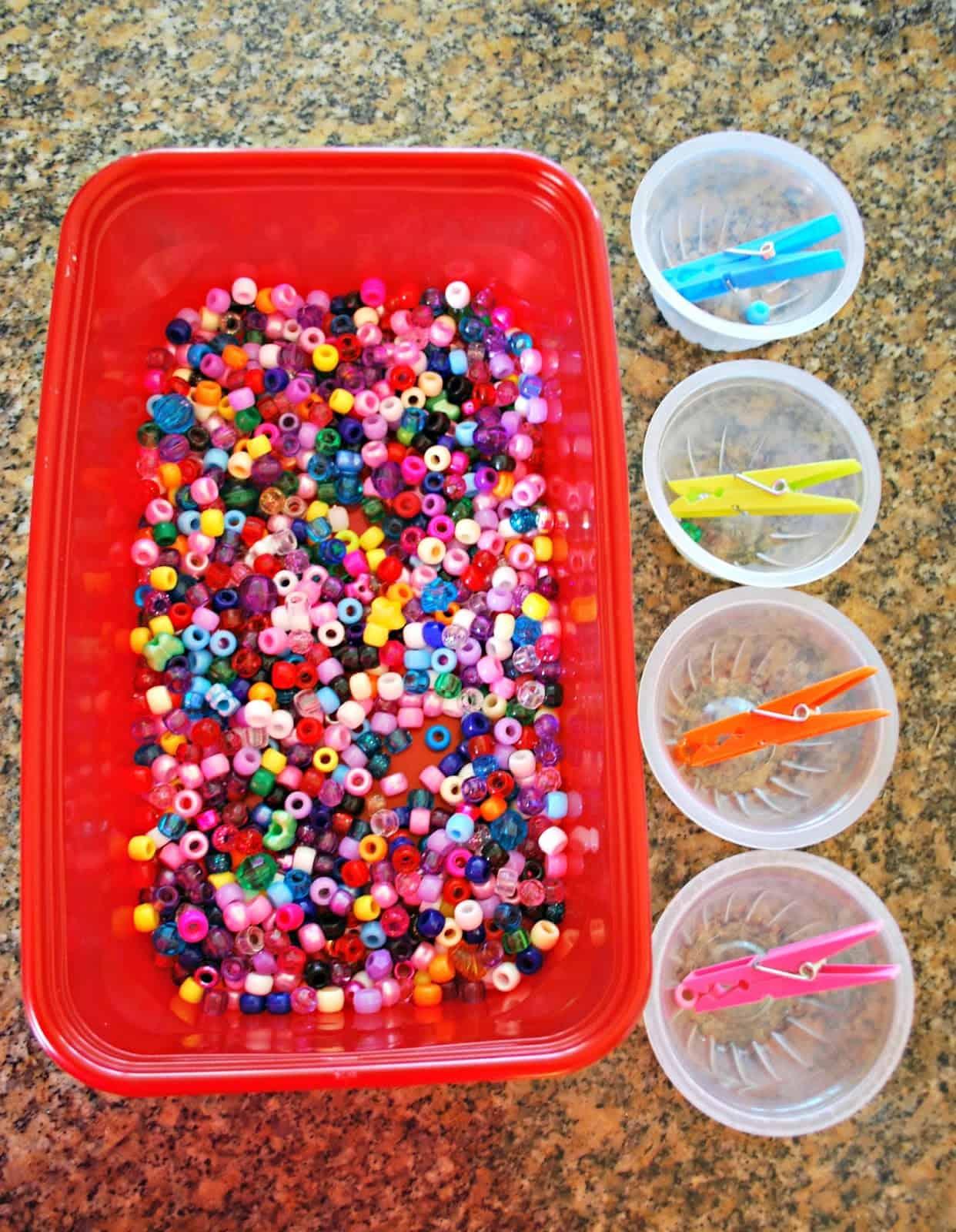 Fine Motor Skills Activity With Beads