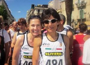 Caterina Gianò e Tatiana Betta della Podistica Messina