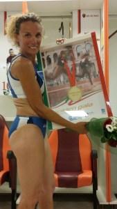 Maria Ruggeri con la medaglia