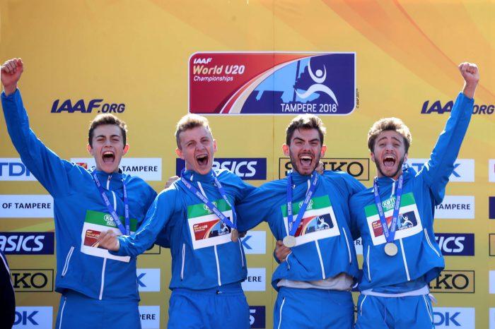Staffetta 4x400 Campione del Mondo U20 a Tampere