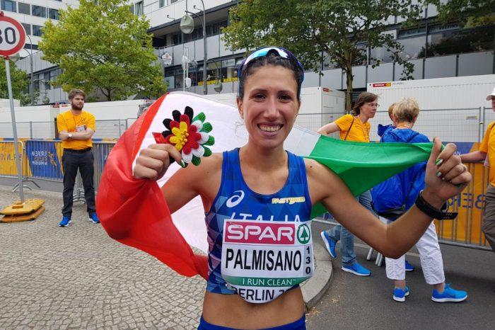 Tris azzurro di bronzo griffato dalla marciatrice Antonella Palmisano