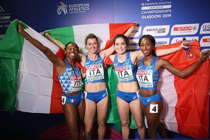 Staffetta 4x400 donne bronzo agli Euroindoor di Glasgow
