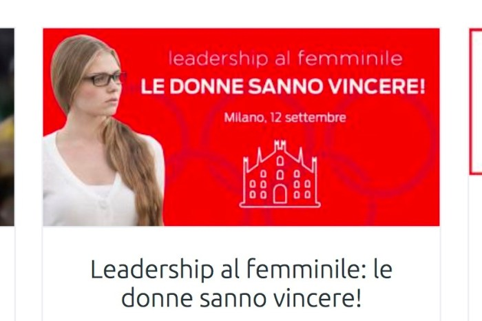 Leadership al femminile: convegno a Milano