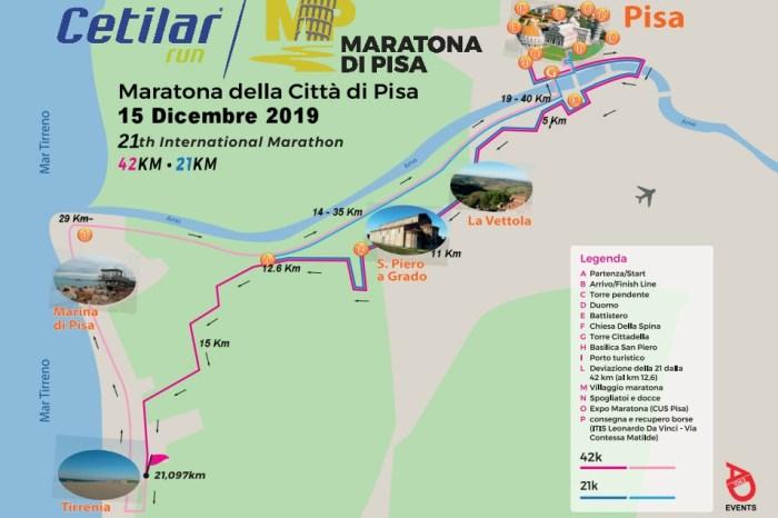 Maratona di Pisa, ufficializzato il percorso