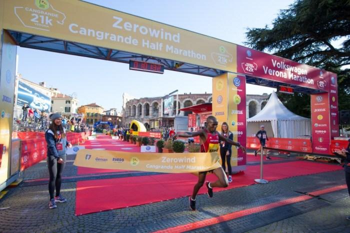 I top runners della Verona Marathon