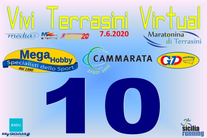 "Domenica si corre la ""Vivi Terrasini Virtual"""