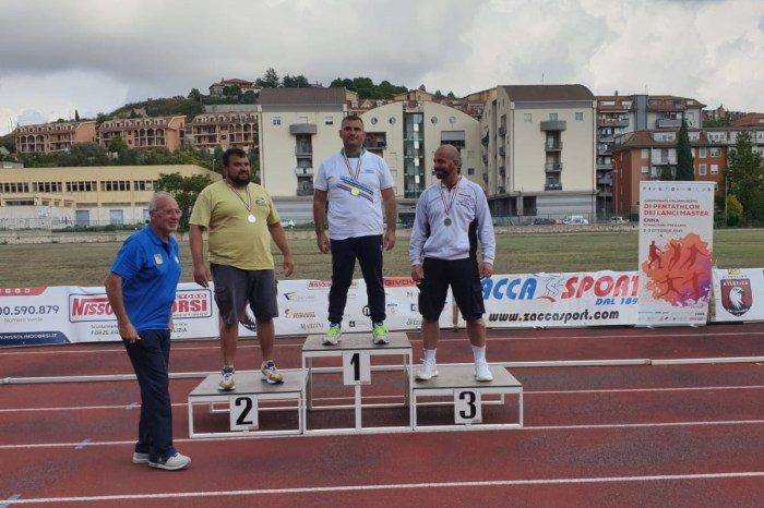 Salvatore Pino e Davide Luca campioni italiani Pentathlon Lanci Master