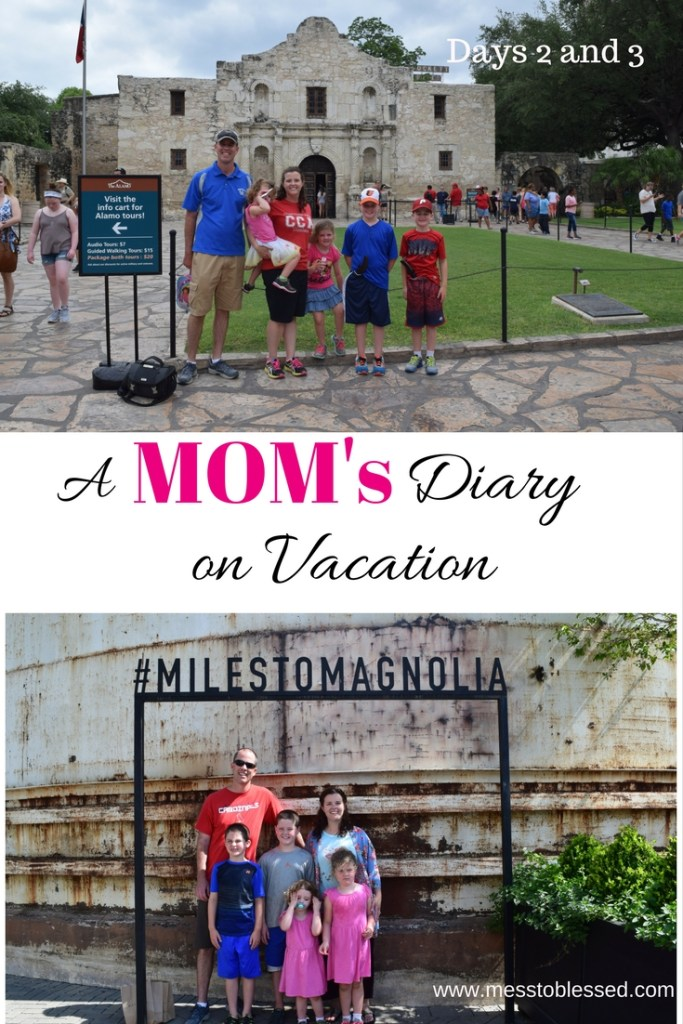 A Mom's Diary on Vacation Days 2 and 3