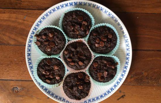 nut-free chocolate zucchini muffins