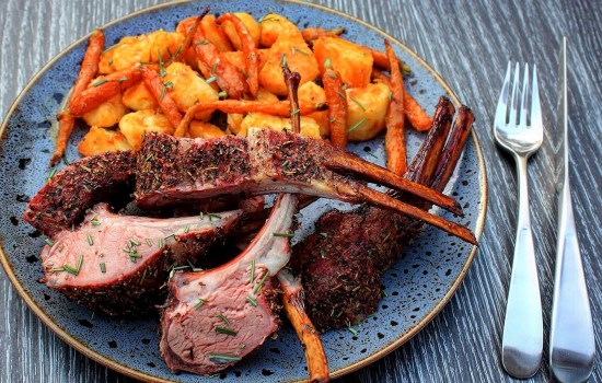 smoked rack of lamb
