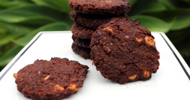 almond pulp chocolate chip cookies