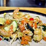 Veggie Loaded Spaghetti Squash w/Shrimp
