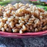 Garden Veggie Farro- A Simple Nutritious Side Dish the Whole Family Will Love