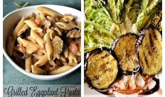 Grilled Eggplant Pasta/Salad