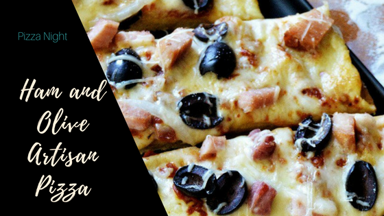 Ham and Olive Artisan Pizza