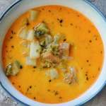 Ham and Potato Broccoli Cheddar Soup
