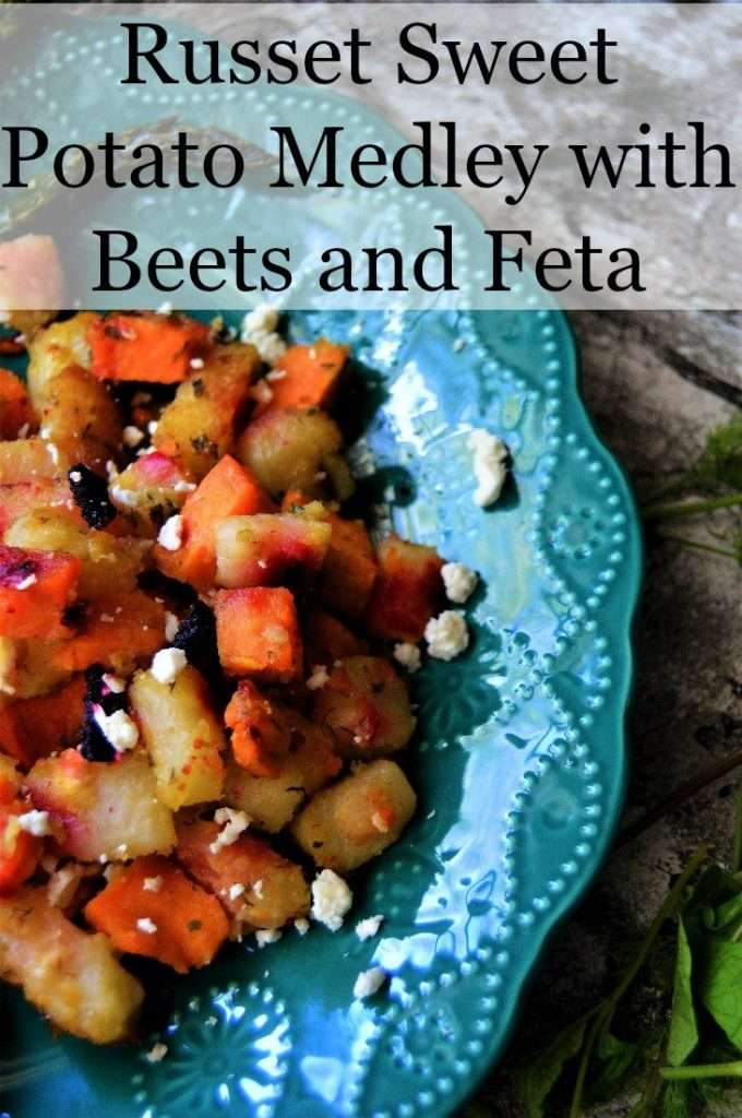 Russet Sweet Potato Medley with Beets and Feta