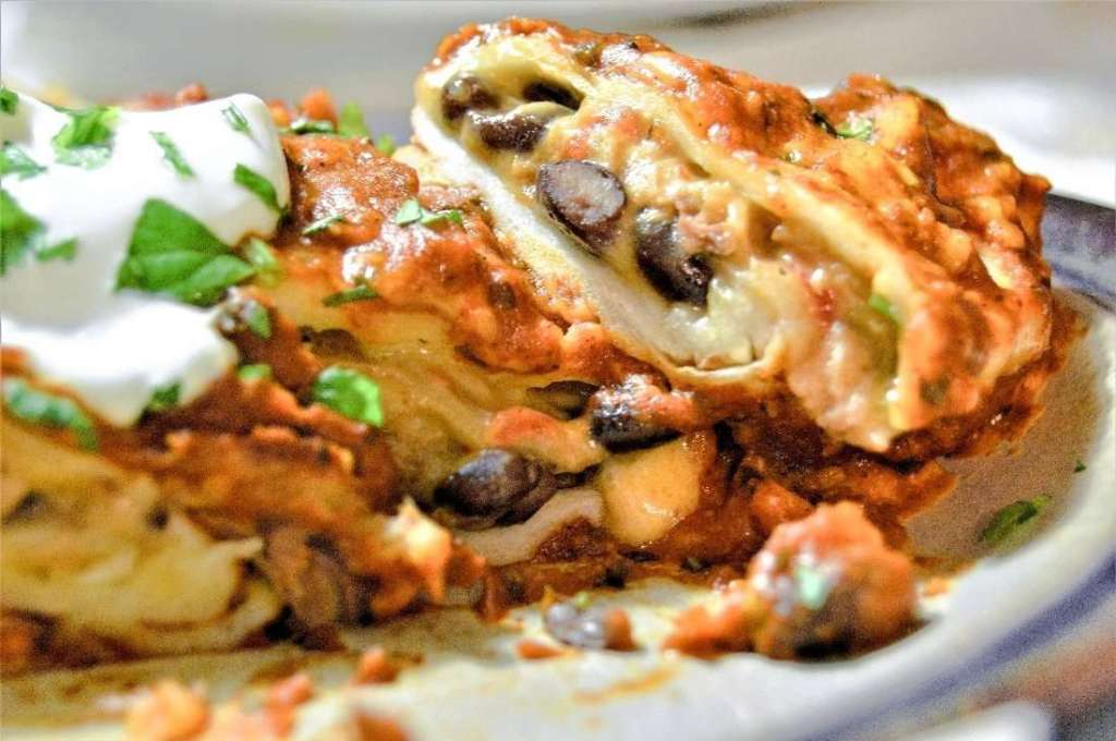Beef and Cheese Enchilada in a Chipotle Enchilada Sauce