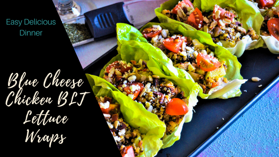 Blue Cheese Chicken BLT Lettuce Wraps