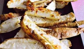 Italian Cheesy Garlic Steak Fries