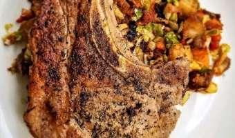 Simple Herb Pork Chop.
