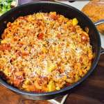 Chicken and Sausage Pasta Bake