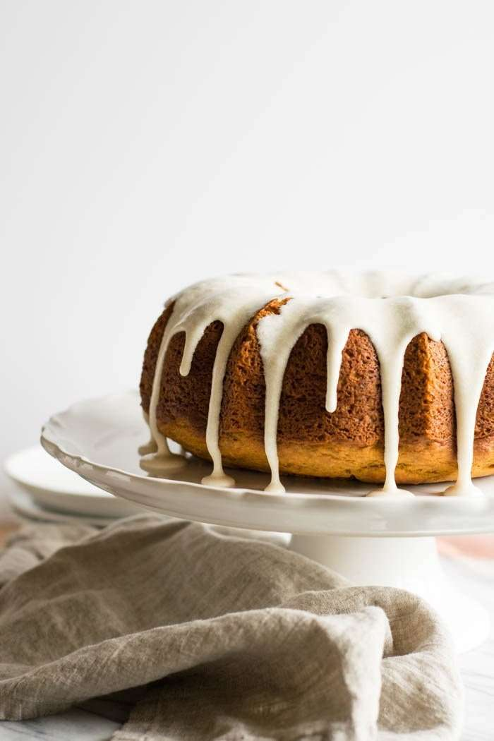 Pumpkin Spice Bundt Cake with Browned Butter Maple Glaze by well fed soul